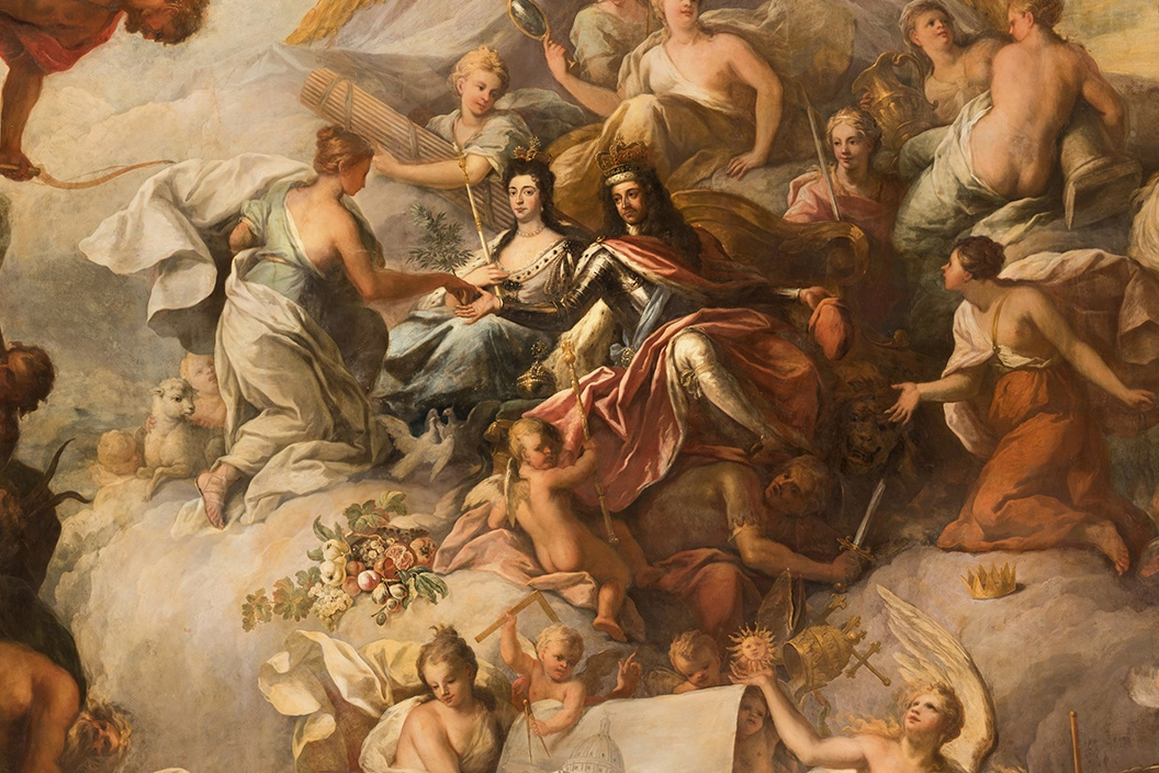 7.Painted Hall_Lower Hall_Ceiling_lowres_Cropped_William_And_Mary